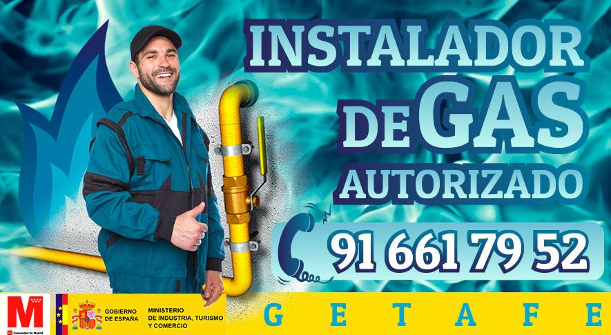 Servicio tecnico instalador autorizado de gas en Getafe