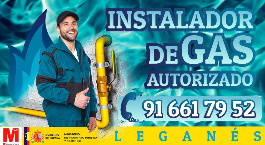 Servicio tecnico instalador autorizado de gas en Leganes