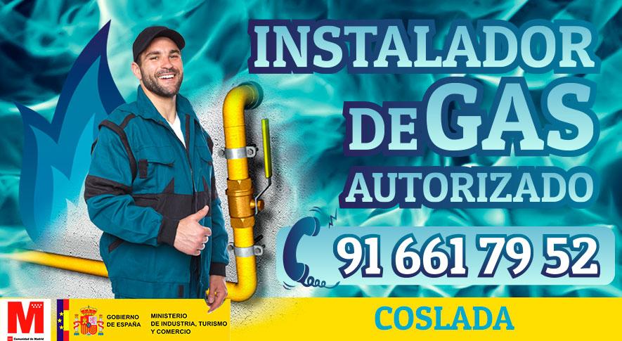 Servicio tecnico instalador autorizado de gas en Coslada