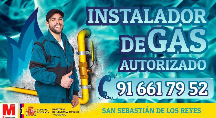 Instalador de gas autorizado en San Sebastian de los Reyes