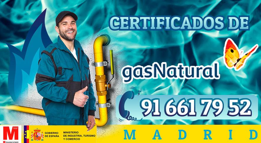 Certificados de Gas Natural en Madrid