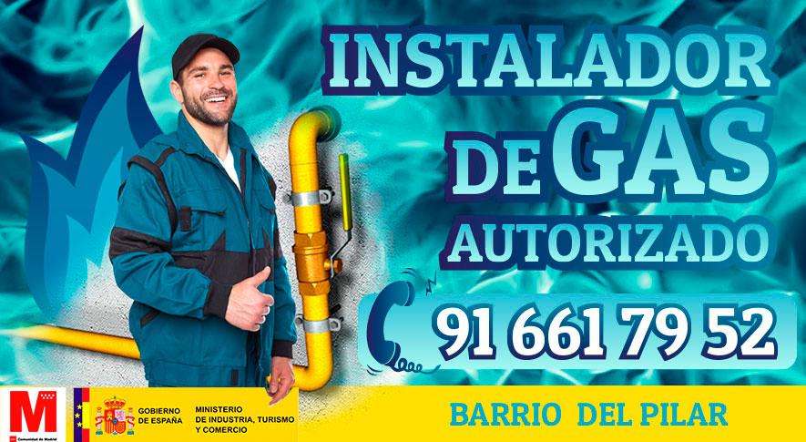 Servicio técnico Instalador de gas en el Barrio del Pilar Autorizado