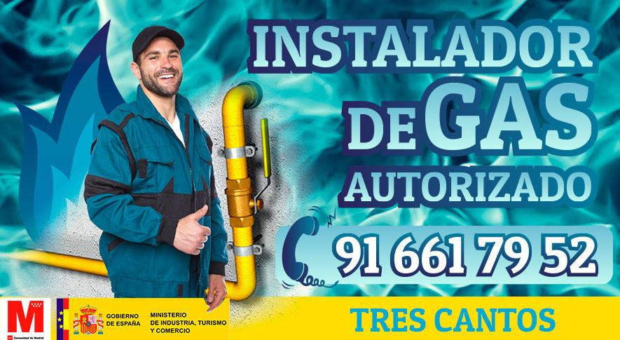 Servicio técnico instalador autorizado de gas en Tres Cantos