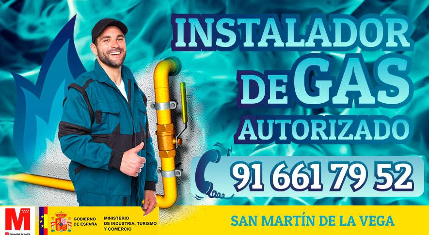 Instaldor de gas natural en San Martín de la Vega