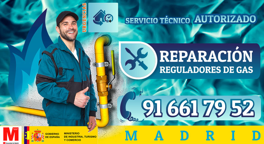 Reparación de reguladores de gas natural en Madrid