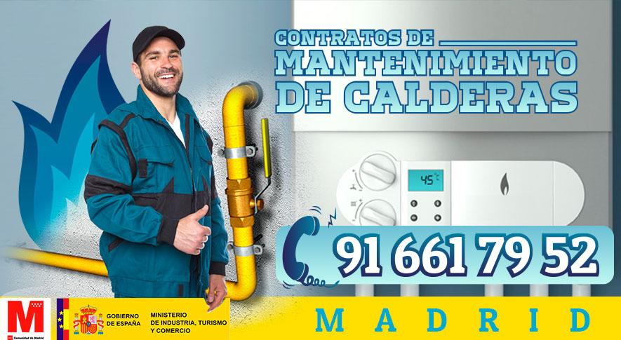 Contratos de mantenimiento de calderas de gas en Madrid