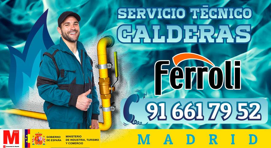 Servicio Técnico y Reparación de calderas Ferroli en Madrid.