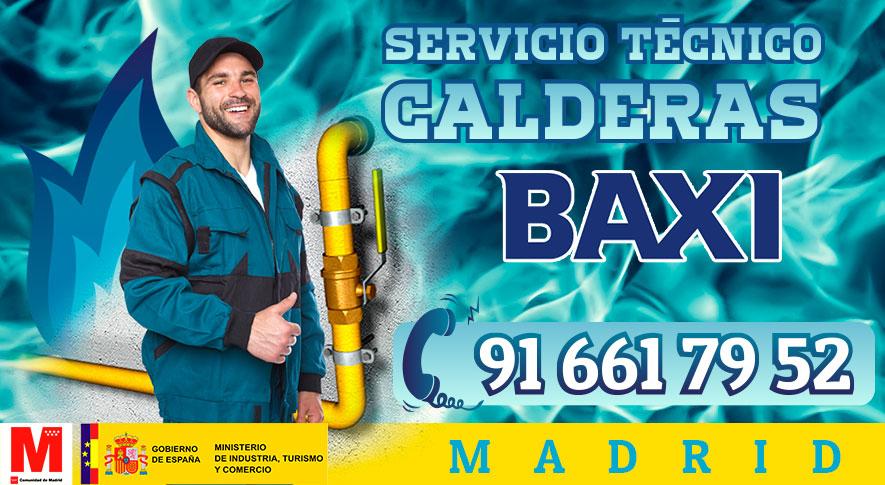 Servicio técnico calderas Baxi en Madrid.