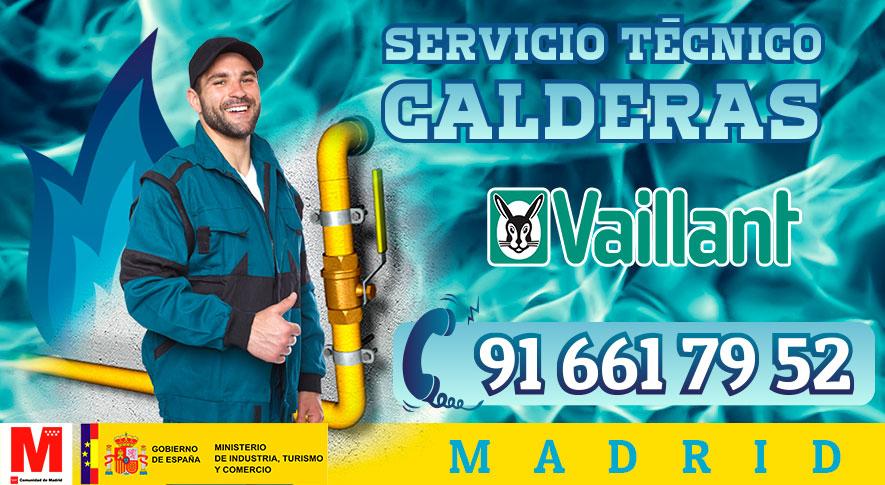 Servicio técnico calderas Vaillant en Madrid.