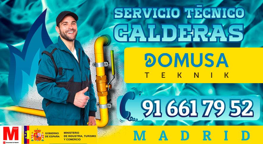 Reparación de calderas Domusa en Madrid.