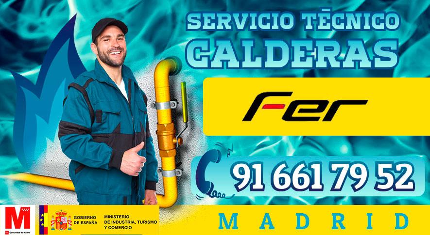 Reparación de calderas Fer en Madrid.