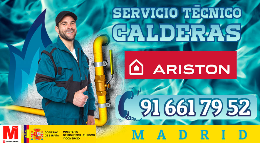 Reparación calderas Ariston en Madrid.