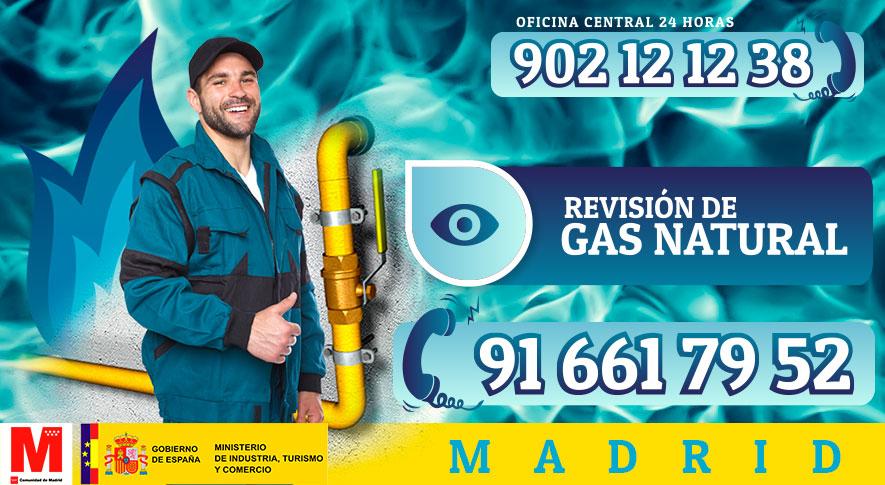 revisión de gas natural en Madrid