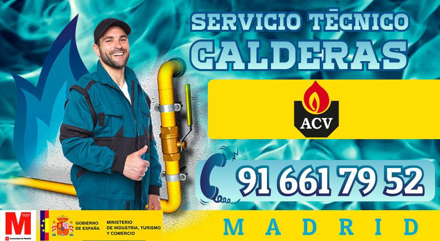 Servicio técnico calderas ACV en Madrid.